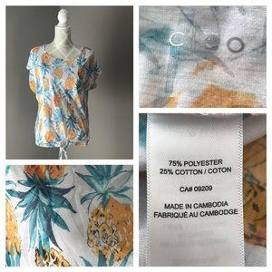🇨🇦Cleo Pineapple Print T Shirt L/G